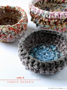 The Red Thread: How to Make Fabric Baskets