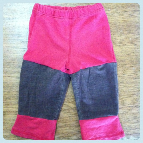 Puzzle Piece Kids' Clothes - holy knees replaced with fabric from old cords