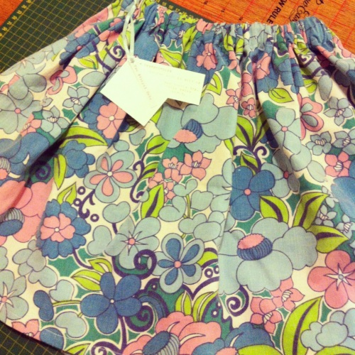 Girl's Skirt - vintage fabric