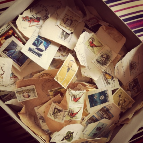 Vintage Stamps - given to me by my Grandma when I was just a girl
